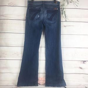 7 For All Mankind Dojo Flare Leg Jeans Size 31